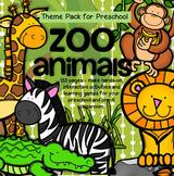 ZOO ANIMALS Math Literacy Centers and Activities Theme Uni