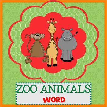 ZOO ANIMALS SAFARI - Newsletter Template WORD