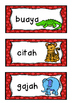 ZOO ANIMALS kebun binatang Flashcards BAHASA INDONESIA indonesian