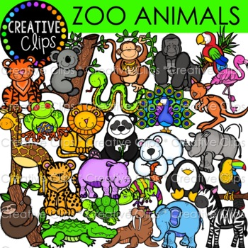 Zoo Animal Clipart {Creative Clips Clipart}