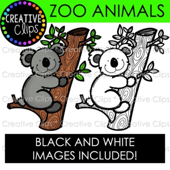 zoo animal clipart creative clips clipart by krista wallden rh teacherspayteachers com zoo animal clipart free zoo animal clip art images