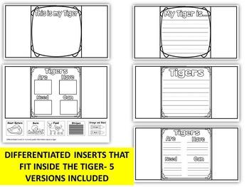 ZOO Animals-TIGER ART- WRITING OR DRAWING CRAFT- ADAPTABLE