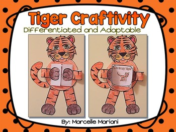 ZOO Animals-TIGER ART- WRITING OR DRAWING CRAFT- ADAPTABLE