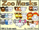 ZOO Animal Masks, ZOO ART ACTIVITIES-ZOO MASKS for props and art