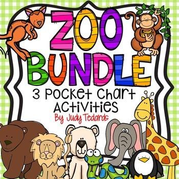 ZOO BUNDLE (3 Pocket Chart Activities)