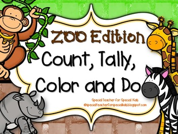ZOO Edition * Color, Count, Tally & Do- Instant & Interactive Mat