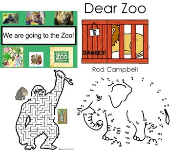 ZOO RESOURCES ACTIVITIES IWB GAMES MATCHING COLOURING EYFS KS1
