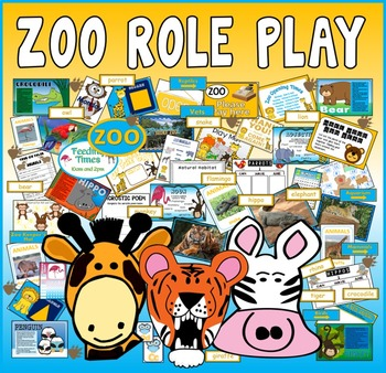 ZOO ROLE PLAY TEACHING RESOURCES EYFS KS1-KS2 ANIMALS SCIENCE EXPRESSIVE PLAY