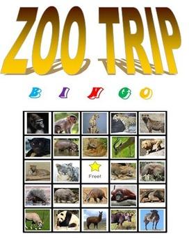 ZOO TRIP Bingo
