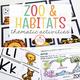 ZOO THEME ACTIVITIES FOR PRESCHOOL, PRE-K AND KINDERGARTEN