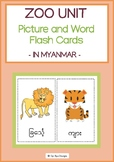 ZOO UNIT- PICTURE AND WORD FLASH CARDS IN MYANMAR