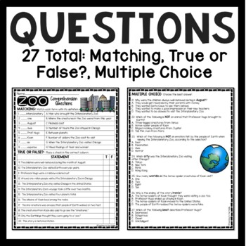 ZOO by Edward Hoch comprehension questions, science fiction