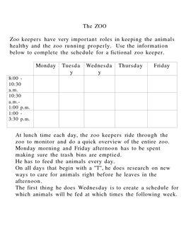 ZOO schedule Logic