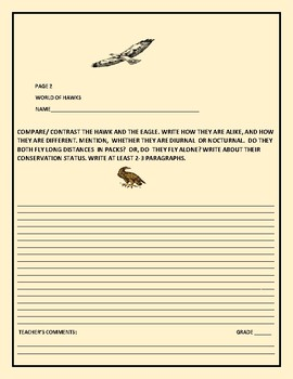 ZOOLOGY: WORLD OF HAWKS: A SCIENCE ACTIVITY