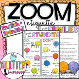 ZOOM ETIQUETTE | Distance Learning Family and Student Guide |  Virtual Classroom