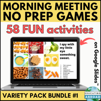 Digital Zoom Games Bundle | Interactive Language & Math Games Distance Learning