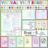 ZOOM Meeting Visuals (PreK - 5) BUNDLE Distance Learning