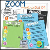 ZOOM Meeting Video Rules Signs   Distance Learning   Digit