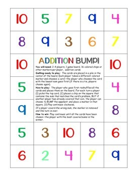 ZOOM addition game