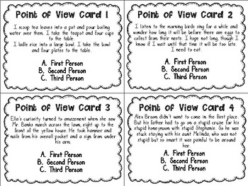 ZOOM in on Point of View Task Cards PLUS Cooperative Learning Activities