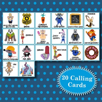 ZOOTOPIA 3x3 Bingo