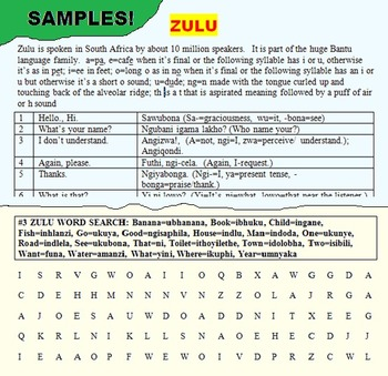 SOCIAL STUDIES - HISTORY: ZULU WITH FUN LEARNING ACTIVITIES!