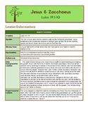 Zacchaeus Bible Lesson for Large & Small Groups