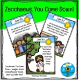 Zacchaeus Come Down Scripture Cards