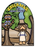 Zacchaeus and Jesus- Bible Craft and color sheet