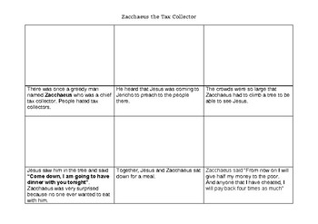 Zacchaeus storyboard - The Tax Collector