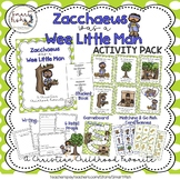 Zacchaeus was a Wee Little Man Song Activity Pack- Christian