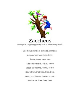 Zaccheus clapping game