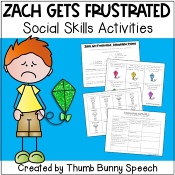Zach Gets Frustrated: Social Skills Activities