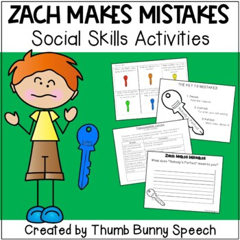 Zach Makes Mistakes: Social Skills Activities
