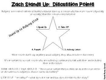 Zach Stands Up - Social Skills Activities