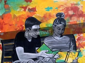 Zach and Tia Digital Art Poster