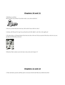 Zachary Beaver Chapter Questions