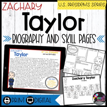 Zachary Taylor: Biography, Timeline, Graphic Organizers, Text-based Questions