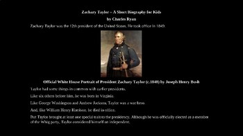 Zachary Taylor - PowerPoint Biography with Review Quiz