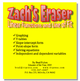 Zach's Eraser: Linear Functions and Line of Fit