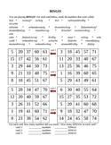 Zahlen (Numbers in German) Bingo worksheet
