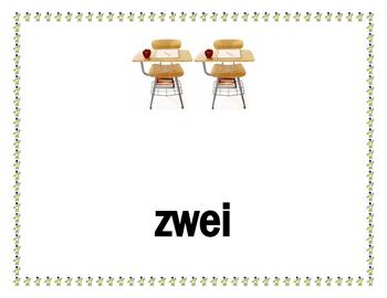 Zahlen (Numbers in German) Posters
