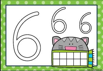 Zahlenmatte für Knete 0 bis 10
