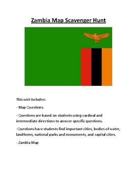 Zambia Map Scavenger Hunt