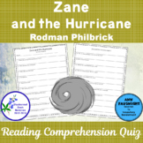 Zane and the Hurricane: A Reading Comprehension Quiz
