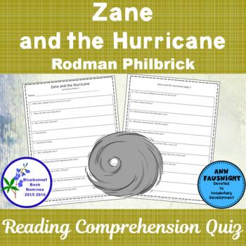 Zane and the Hurricane: A Reading Comprehension Quiz
