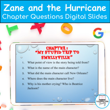 Zane and the Hurricane: A Story of Katrina Chapter Comprehension questions