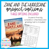 Zane and the Hurricane: Cumulative Novel Project Options