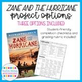 Zane and the Hurricane: Cumulative Novel Project Options