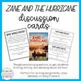 Zane and the Hurricane Discussion Question Cards